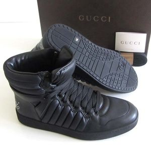 GUCCI logo black high-top sneakers 8.5 G / 9.5 US